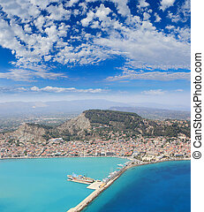 Aerial view on Zakynthos Greece