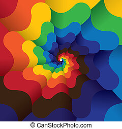 colorful abstract infinite spiral of bright colors - vector...