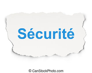 Security concept: Securitefrench on Paper background -...