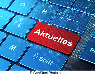 News concept: Aktuelles(german) on computer keyboard...