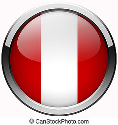 peru flag gel metal button