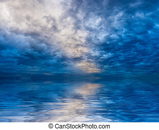 Skyscape with water reflections - Beautiful skyscape with...