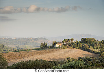 Tuscany Landscape in the morning - Picture of Tuscany...