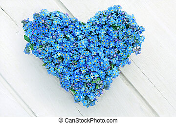 forget-me-not - heart shaped from forget-me-not