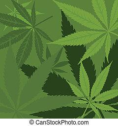 vettore, Marijuana, fondo