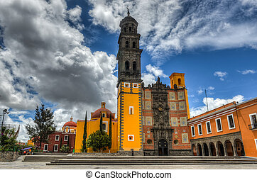 Church of San Francisco Templo de San Francisco of Puebla,...