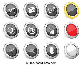 3d icons communication