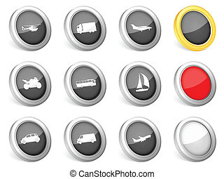 3d icons transport
