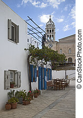 paros greece - image of a street of the village of lefkes in...