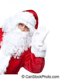 Santa Claus isolated on white. - Santa Claus isolated on...