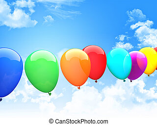 3d ballons - 3d image of colorful 3d ballons