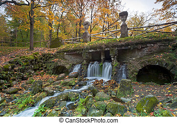 Grotto - Decorated as ruin Grotto with water stream in...