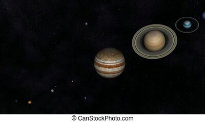 Solar System - Animation of the Solar System