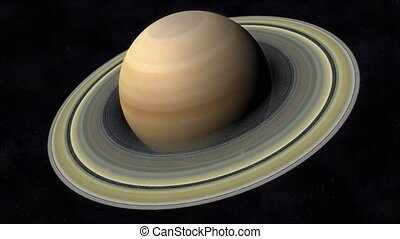 Saturn Animation - Animation of the Planet Saturn