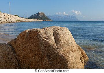 Stones at gulf Golfo Aranci coast, Sardinia, Italy