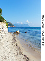Sardinian coast at Golfo Aranci, Italy - Coast of gulf Golfo...
