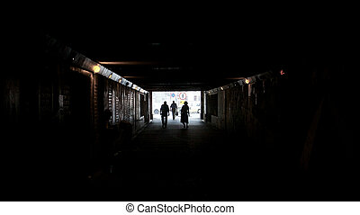 Walking Towards Light at End of Tunnel