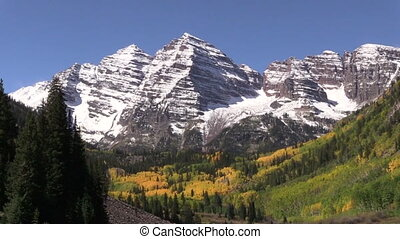 Maroon Bells Aspen Colorado in Fall - the maroon bells near...