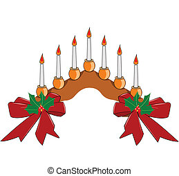 candle setting for holidays