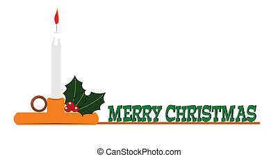 merry christmas message in color