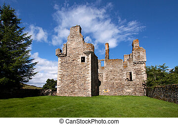 Glenbuchat Castle near Kildrummy, Aberdeenshire, Scotland is...