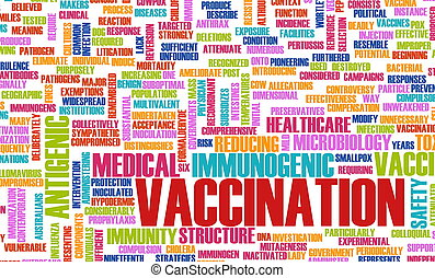 Vaccination or Vaccine Shot for Immunity Concept