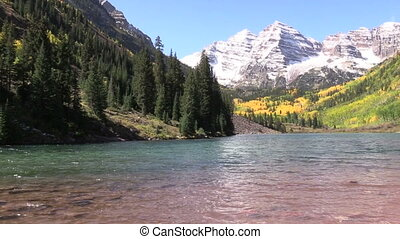Maroon Bells in Fall - the maroon bells near aspen colorado...