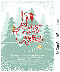 Merry Christmas background card for text.