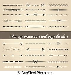 vintage ornaments and page dividers