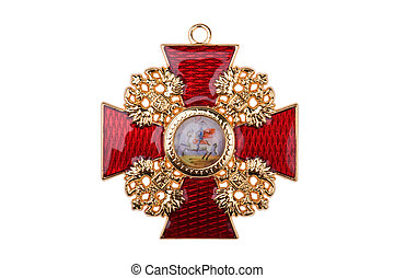 Badge of the Order St Stanislaus - awards of the Russian...
