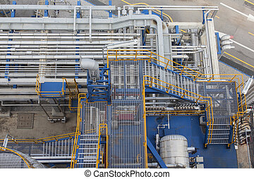 Pipe line  - Pipeline with structure in chemical plant