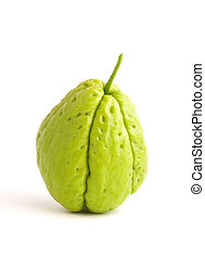One Chayote isolated on white background