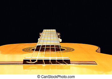Neck of the guitar in perspective - Grif of Spanish...
