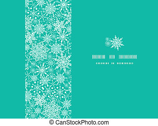 Snowflake Texture Horizontal Frame Seamless Pattern Background