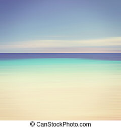 An abstract ocean seascape with blurred panning motion