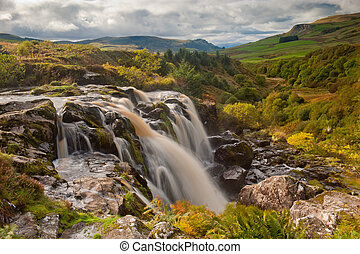 Loup Fintry Autumn - The Loup of Fintry waterfall north of...