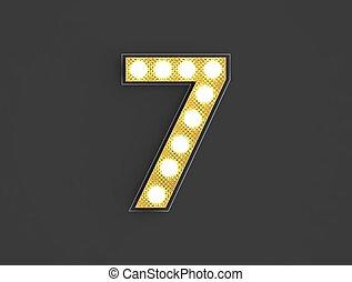 light vintage number seven