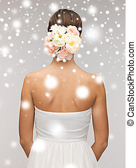 woman with flowers in her head - valentine's day, bridal,...