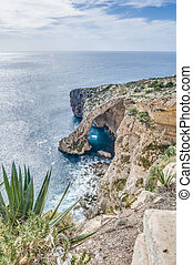 Blue Grotto on the southern coast of Malta - Blue Grotto...