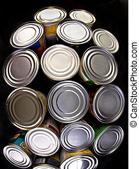 Canned Food. - Interesting group of canned food.