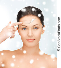 beautiful woman face - health and beauty concept - beautiful...
