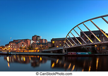 castlefiled foot bridge - A foot bridge in castlefield, one...