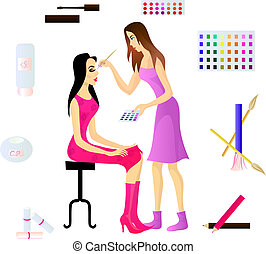 Makeup artist and her client Eps 10 - Makeup artist and her...