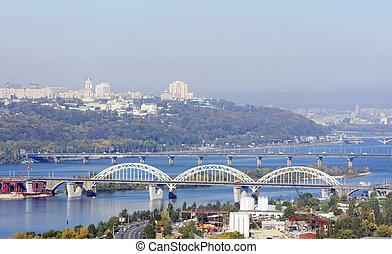 Bridges - bridges across the river Dnipro Kyiv Ukraine