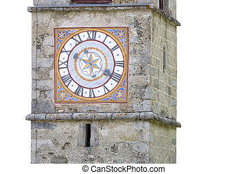 Historic church clock in Italy