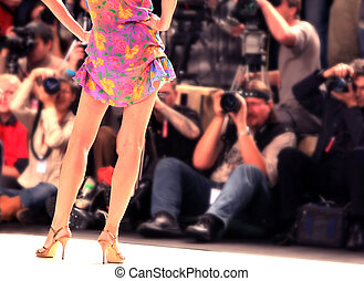 show of fashions - fashion model from behind
