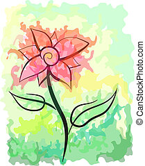 Picturesque abstract vector flower. Eps 10