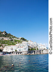 Amalfi, Italy - Panoramic view od Amalfi in the Costiera...