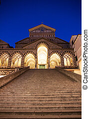 Amalfi Dome, Italy - View of the Amalfi Dome in the Costiera...