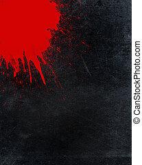 Splattered blood and grunge background - Grunge background...